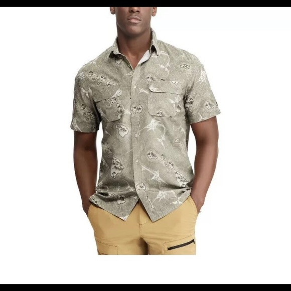 Chaps Other - Chaps Mens Performance Woven Button Down Shirt,
